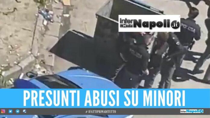 cassonetto scampia abusi minori vele celeste napoli polizia