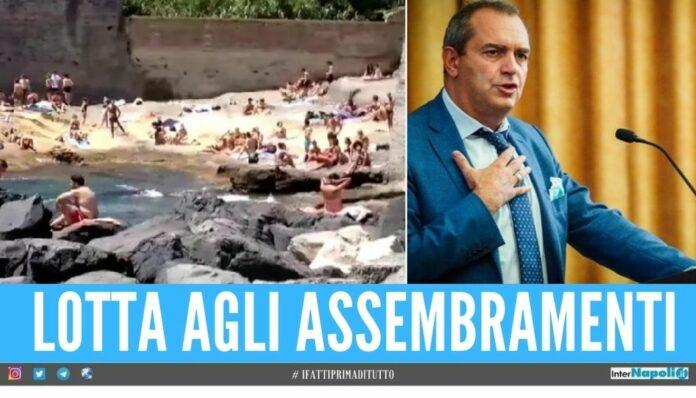 spiagge napoli chiuse ordinanza sindaco de magistris