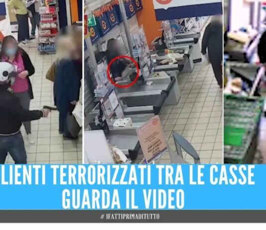 rapine supermercati napoli video rapine