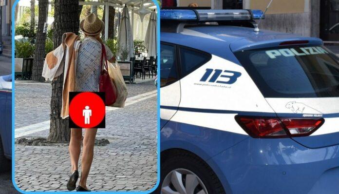 turista nuda caserta ubriaca polizia