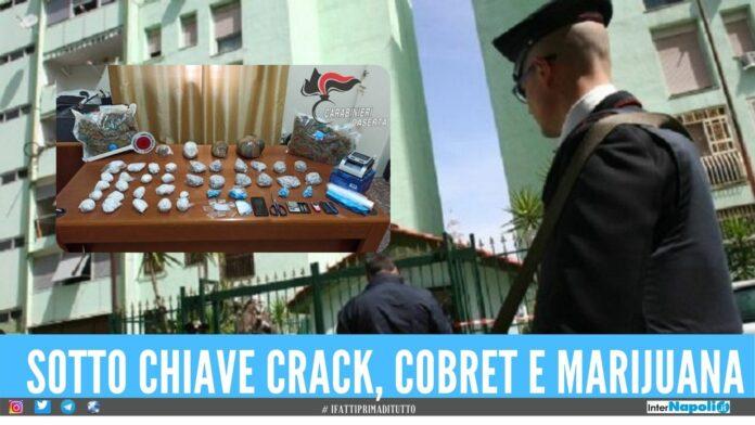 Colpo alla spaccio a Caivano, sequestrati 7 kg di droga al Parco Verde