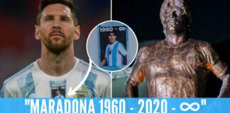 Maglia e statua Maradona