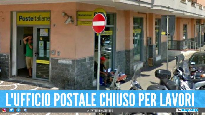 Giugliano, chiude l'ufficio centrale delle Poste: i lavori dureranno 2 settimane