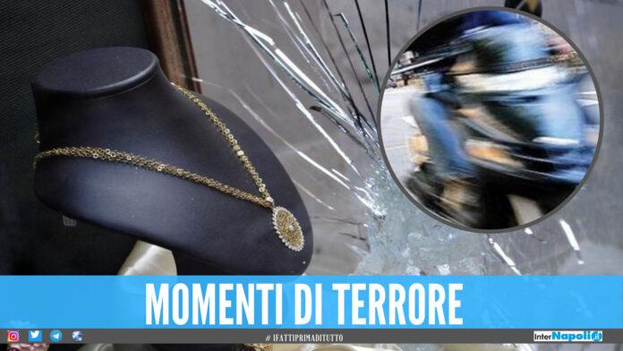 Rapina con spari nella gioielleria in Campania, banditi in fuga con il bottino