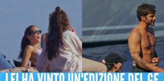 Stefano De Martino in barca con Paola Di Benedetto