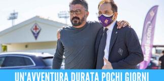 Adesso è ufficiale, Gattuso lascia la Fiorentina: aveva firmato 22 giorni fa