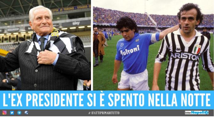 Giampiero Boniperti, Diego Armando Maradona e Michelle Platini
