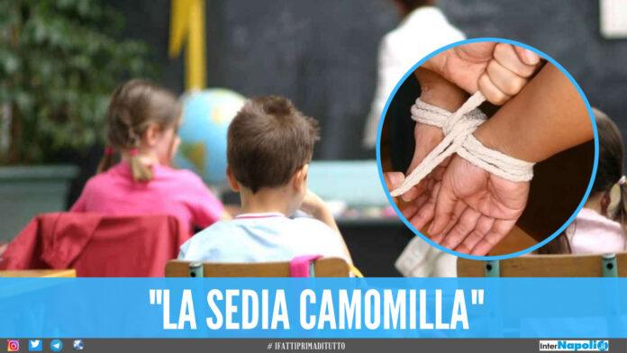 Scuola dell'orrore in provincia di Napoli, bimbi legati alle sedie dalle maestre