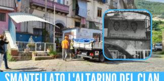 Altarino del clan rimosso a Castellammare