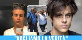 Michele Merlo, nel riquadro i genitori