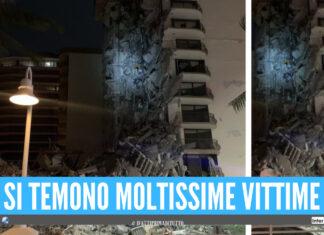 Crolla palazzo a Miami