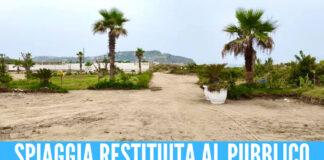 Bacoli, sgomberato lido abusivo: la spiaggia restituita alla cittadinanza