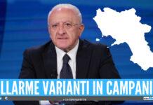Allarme varianti in Campania