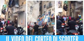 I familiari di un boss palermitano a Napoli: corteo con scooter e visita ai familiari di Ugo Russo