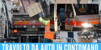 Incidente a Giugliano, operaio travolto da auto contromano: è in gravi condizioni