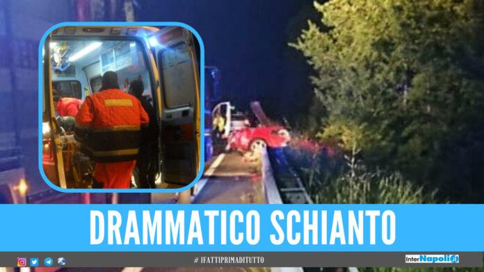 Schianto in Ferrari a folle velocità: morto uomo alla guida