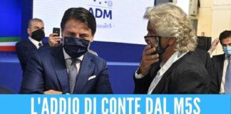Non credo nel progetto di Grillo, l'ex premier Conte dice addio al M5S