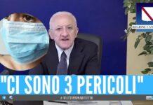 campania obbligo mascherina estate vincenzo de luca
