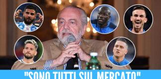 """Napoli, l'annuncio di Adl: """"Non ci sono incedibili, devo far quadrare i conti"""""""