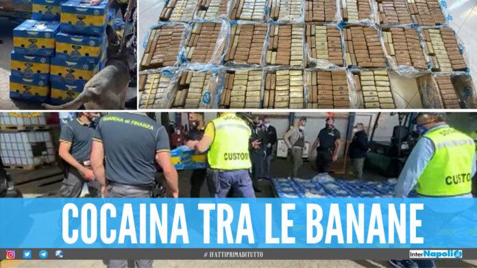 Una tonnellata di cocaina nascosta tra le banane, maxi sequestro al porto di Gioia Tauro