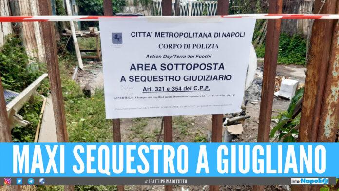 Amianto e rifiuti pericolosi, area di 800 mq sequestrata a Giugliano: denunciati i proprietari