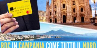 Reddito di cittadinanza Campania