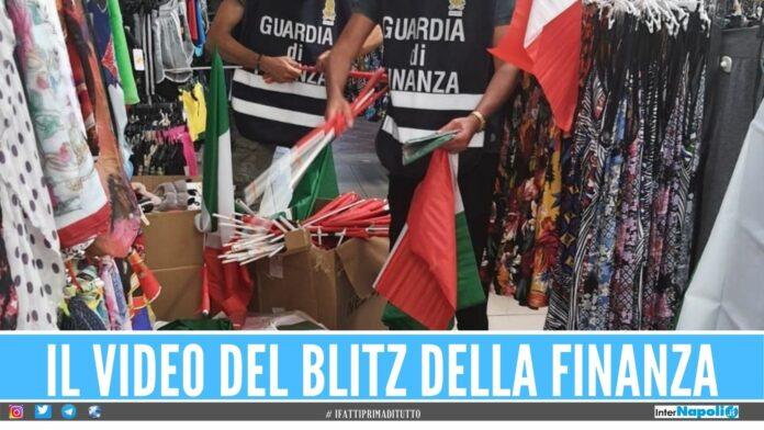maglie bandiere sequestrate giugliano sant'antimo