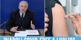 napoli vaccinazioni de luca campania