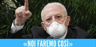 """De Luca ferma gli eventi in Campania: """"Stop a concerti e feste religiose"""""""
