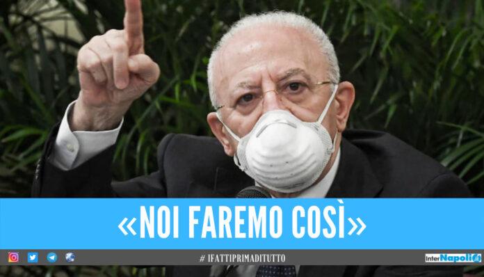 De Luca ferma gli eventi in Campania: