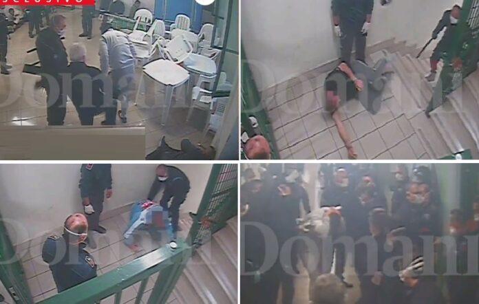 Le immagini delle violenze diffuse dal quotidiano Il Domani