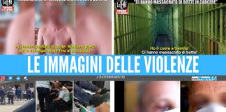 Le immagini delle violenze nel carcere di Santa Maria Capua Vetere