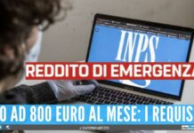 4 mesi reddito di emergenza