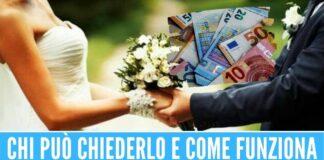 Bonus matrimonio fino a 25mila euro, arriva il contributo per le spese