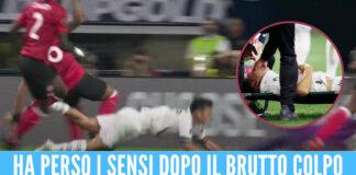 Momenti di paura per Lozano, perde i sensi durante la partita per un colpo alla testa [Video]