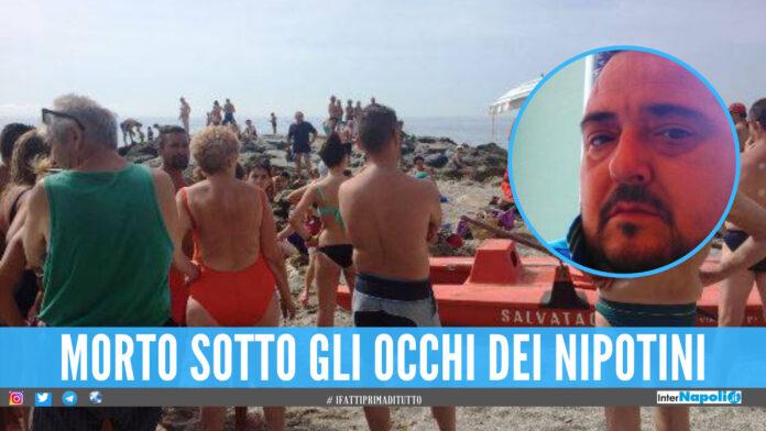 Dramma in Campania, Massimiliano ucciso da un malore: era in spiaggia a giocare con i nipotini