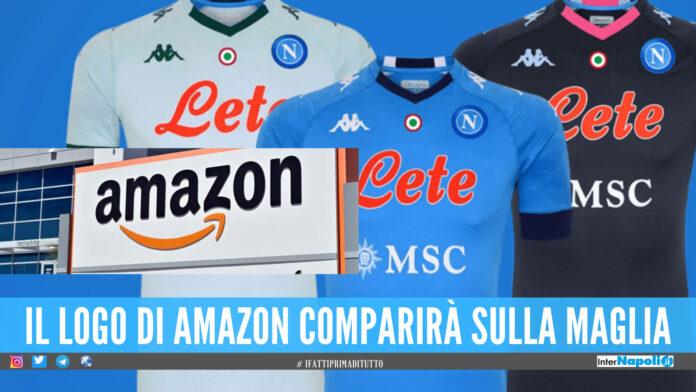 Amazon sponsor del Napoli, i tifosi ora sognano: «Comprate la società»