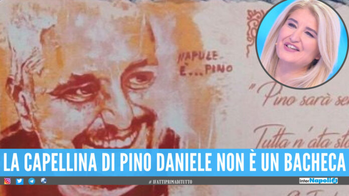 La capellina di Pino Daniele usata come bacheca, parla la figlia