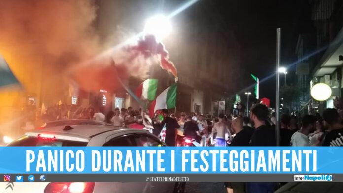 Giugliano, finiscono male i festeggiamenti per l'Italia: risse, vetrine sfondate e atti vandalici