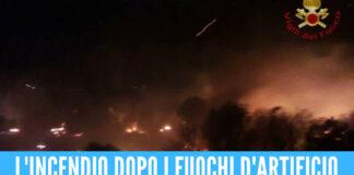 Fuochi d'artificio per il compleanno di un bambino, scoppia un incendio a Roma [Video]