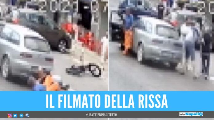 Botte da orbi nel Casertano, calci al volto e pugni tra ciclista e automobilista [Video]