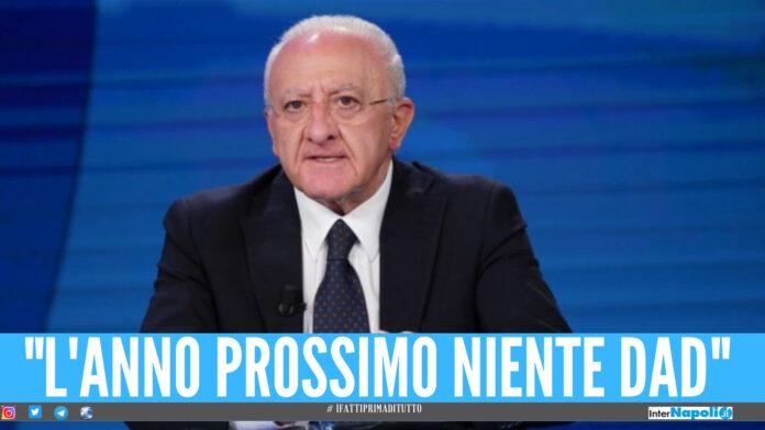 Scuole in Campania, De Luca ha deciso: