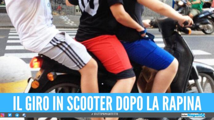 Prima la rapina, poi il giro in 3 sullo scooter: la fuga finisce a Giugliano