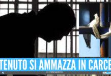 Tragedia dietro le sbarre, detenuto si impicca in carcere con un lenzuolo