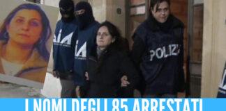 I nomi di tutti gli arrestati tra Palermo e Napoli