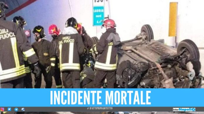 Schianto fatale sul raccordo della Salerno-Reggio, 4 feriti e 2 morti: a bordo anche due bimbi