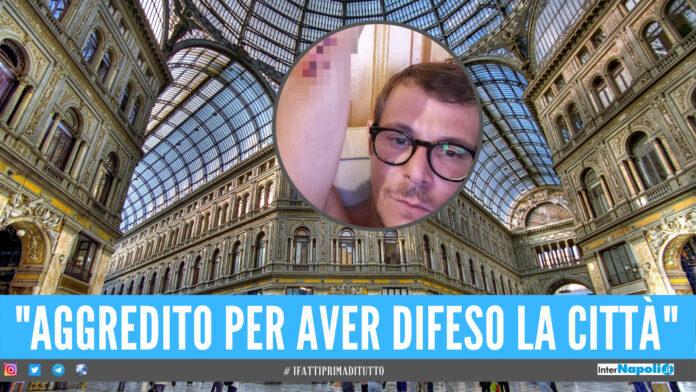 Gira video sulle condizioni della Galleria Umberto, ferito a bottigliate dal parcheggiatore abusivo