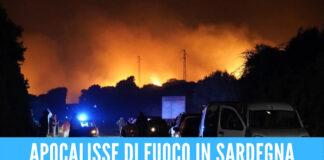 Sardegna divorata dalle fiamme, 1500 persone sfollate e 20mila ettari in fumo