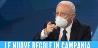 Covid in Campania, De Luca firma l'ordinanza: le nuove regole su spettacoli e controlli in aeroporto