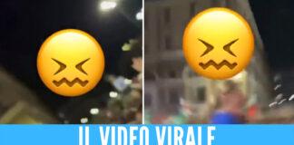Si alza la maglietta dopo la vittoria dell'Italia, i tifosi la palpeggiano: il video che scatena le polemiche